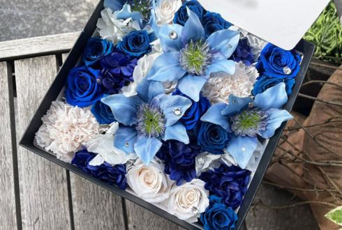 【 #ヲモヒヲカタチニプラス 】石原舞様の誕生日祝い&まいたけCh1周年祝い花 プリザーブドフラワーBOXアレンジ @ガジェットリンク
