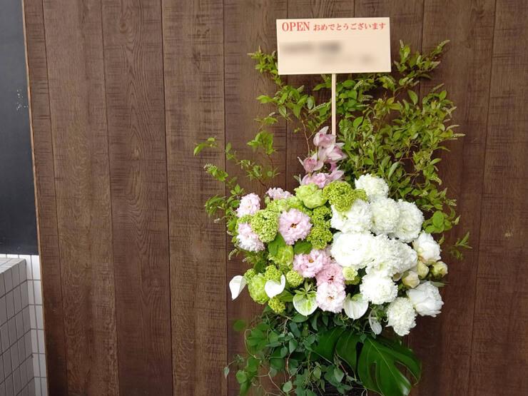 Mプラス様の開店祝い籠スタンド花 @麻布十番