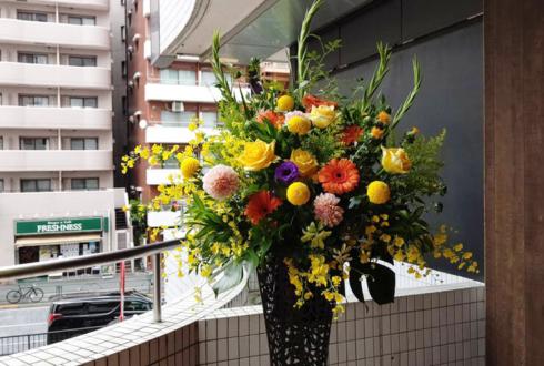 税理士法人松本様の事務所開設祝いアイアンスタンド花 @西新宿