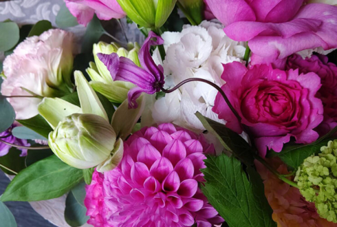 誕生日祝い花束 @ウルフギャング・ステーキハウス