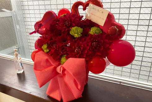 のいちご様の個展開催祝い花 @Gallery&Bar くらげ