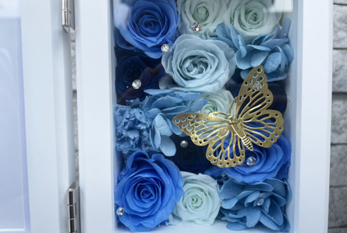 仮面ライアー217様のライブ公演祝い花 プリザーブドフラワーフォトフレーム @渋谷ストリームホール