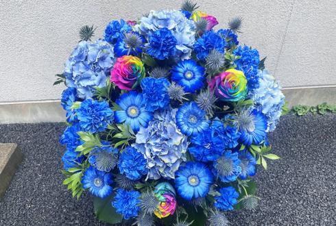 父の日のプレゼントの花 Blue+レインボーローズ