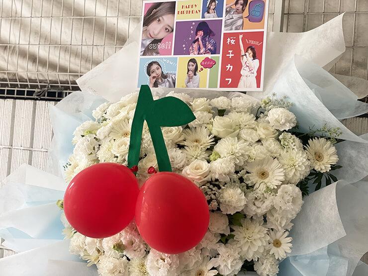 モイメメ。 桜子カフ様の生誕祭祝いフラスタ @六本木BIGHOUSE
