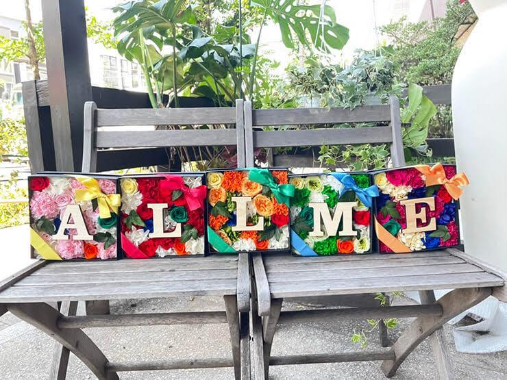 IVVY様のNewSingle「ALL ME」リリース祝い花 プリザーブドフラワーBOXアレンジ @株式会社 エーライツ