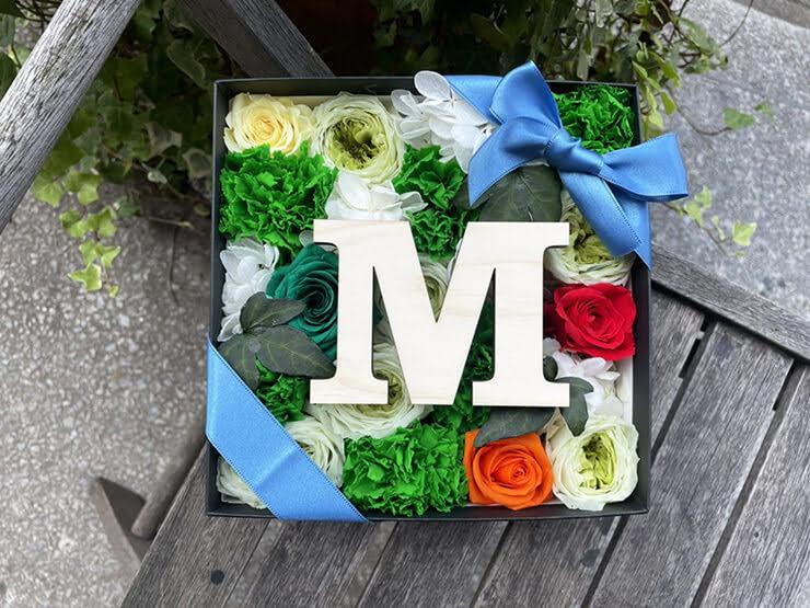 【 #ヲモヒヲカタチニプラス 】IVVY様のNewSingle「ALL ME」リリース祝い花 プリザーブドフラワーBOXアレンジ @株式会社 エーライツ