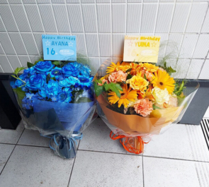 Si☆4 AYANA様 YUINA様の生誕祭祝い花束 @CLUB CRAWL