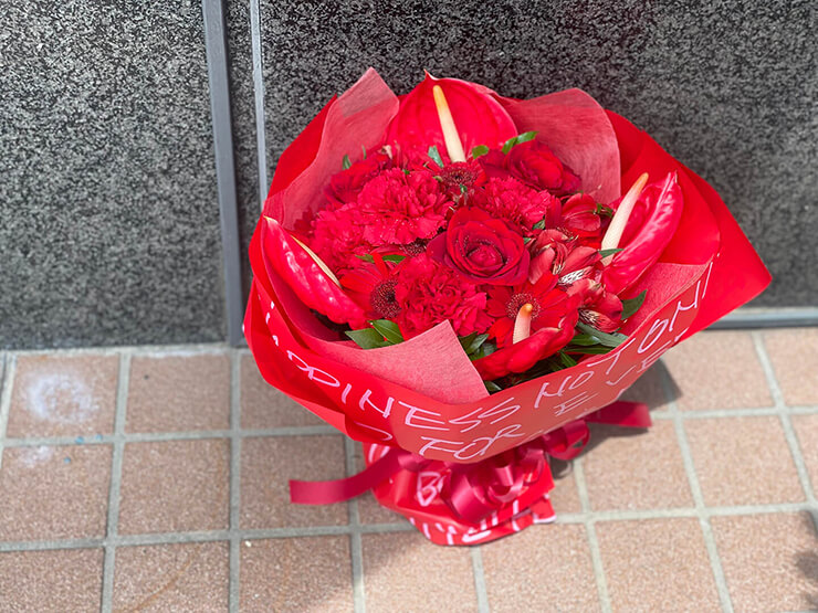 下野りこ様の引退ライブ公演祝い花束 @TOGI BAR