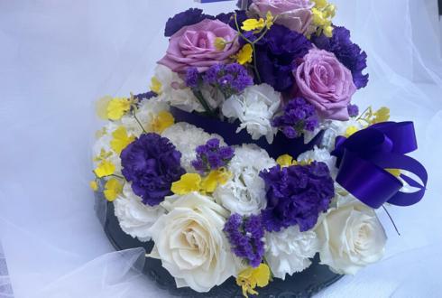 【 #ヲモヒヲカタチニプラス 】ご自宅での推し事に 『銀魂』高杉晋助様の誕生日祝い花 フラワーケーキ