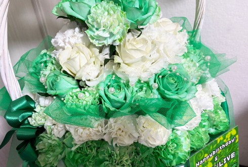 み2No様の誕生日祝い&ライブ公演祝い花 フラワーバースデーケーキ @大塚Hearts+