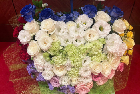 アナタシア 芝健様のダンマスワールド3出演祝い花 ハートアレンジ @品川ステラボール