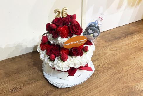 アナタシア まさと様の誕生祭祝い花 バースデーフラワーケーキ @秋葉原エンタス