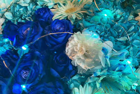 しぇる。様のライブ公演祝い花 @aube shibuya