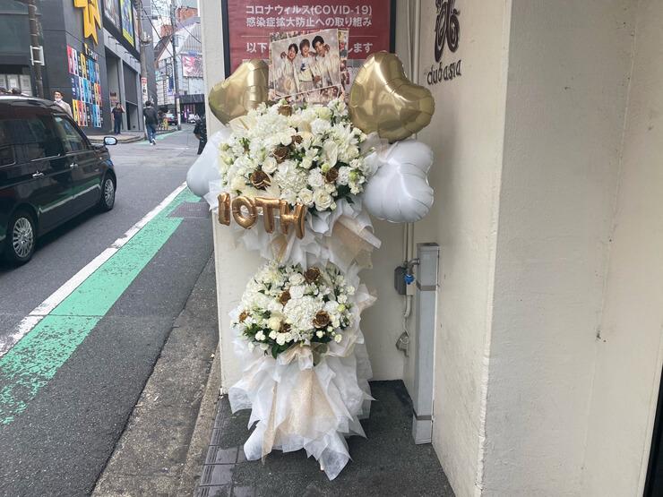 天才凡人様の10周年記念ワンマンライブ公演祝いフラスタ @渋谷club asia